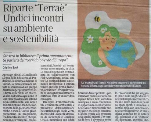Riparte Terraè - Messaggero